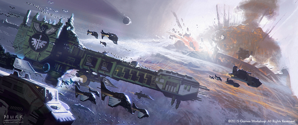 """Dark Angels Bombardment"", Client: Games Workshop, 2015, digital"