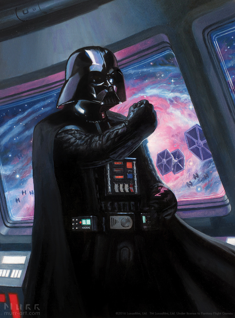 """Vader's Command"", Client: Fantasy Flight Games, 2015, oil on board"