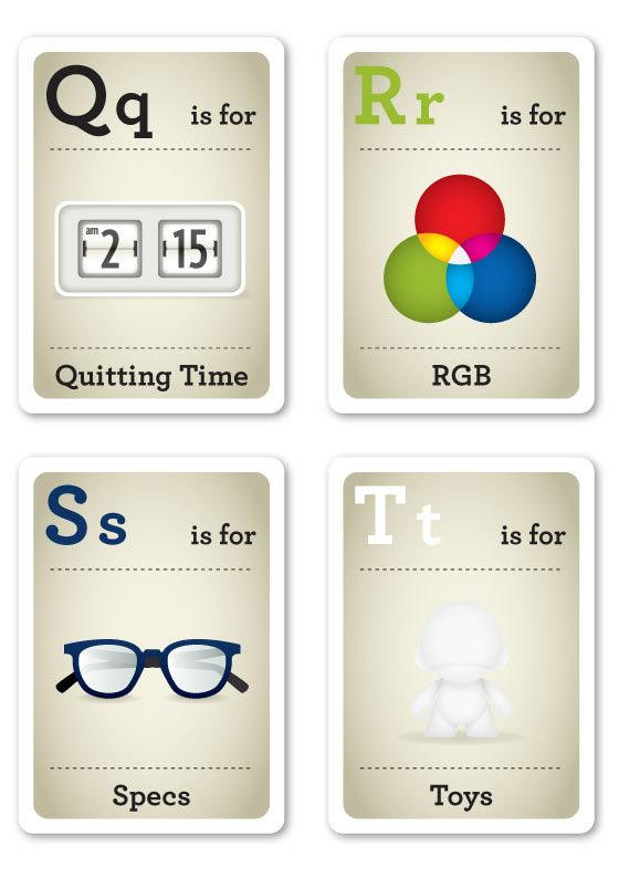 (via Cutedrop» O alfabeto para filhos de designers)