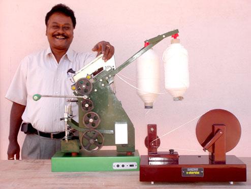 E-Charkha Spinning Wheel Generates Electricity While Making Yarn [Charkha] World Congress on Ecological Sustainability: October 2008