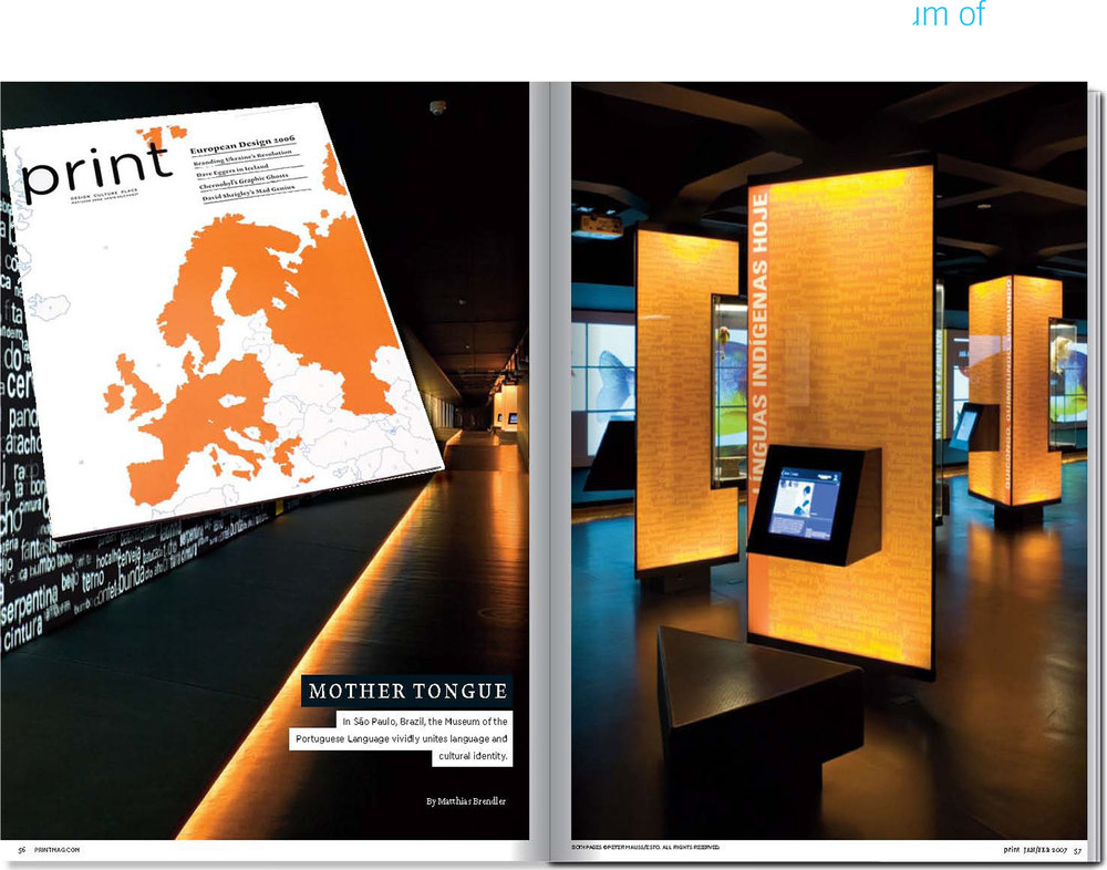 "Print Magazine,""Mother Tongue"": Feature article on the Museum of Portuguese Language"