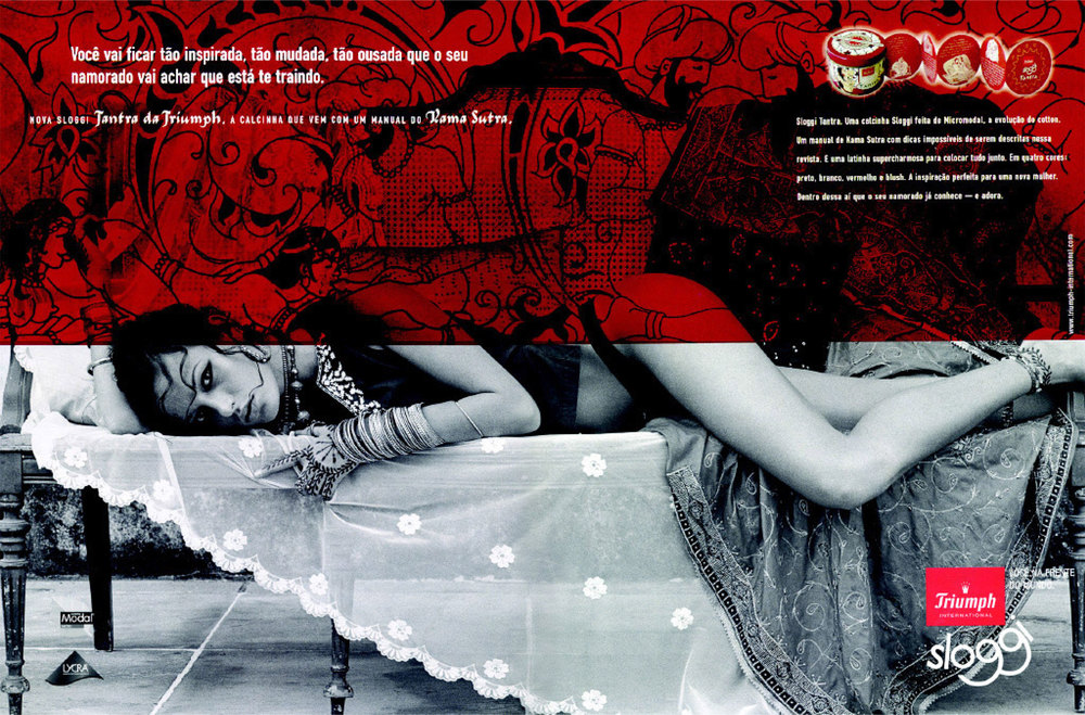 triumph lingerie : advertising    Created a single Brazilian Valentine's Day Lingerie advertisingcampaign that led to other campaings for 12 new products.