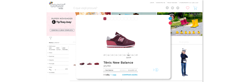PRODUCT DETAIL WINDOW WITH ACTIONABLE LINKS TO ADD TO WISHLIST AND BUY