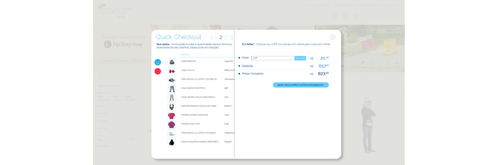 SHOPPING CART FLOW: MAINTAINS VISUAL LANGUAGE FROM PRODUCT DETAIL FOR STREAMLINED CHECKOUT