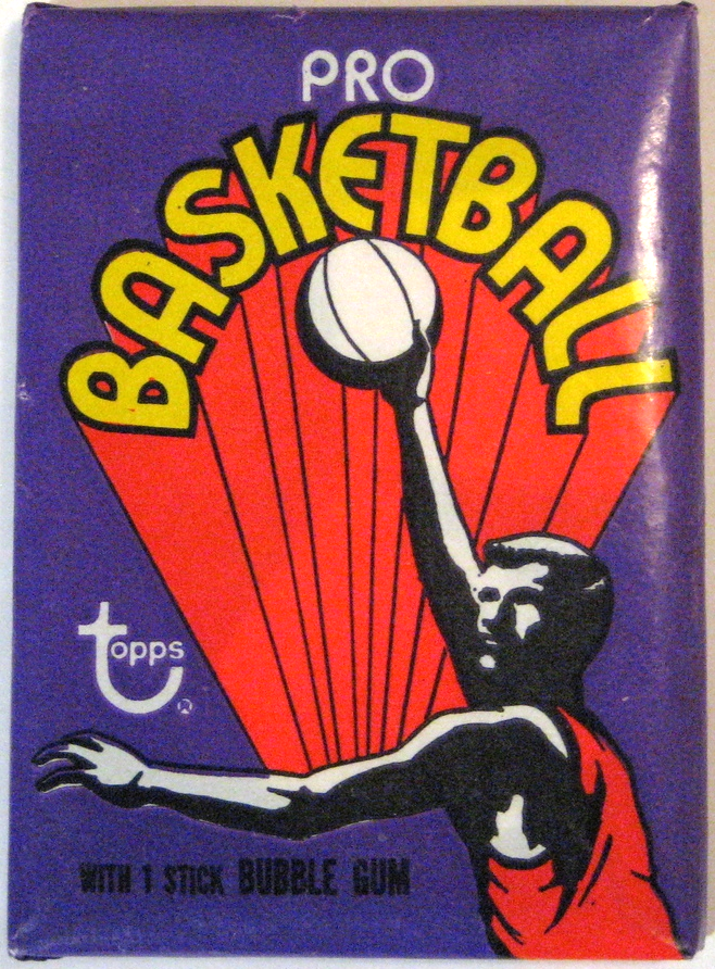 1972-73 Topps Basketball Pack: This has the flashy 70s style common to most of the 1970s Topps packs. Key cards from this set include  Pete Maravich's rookie card .