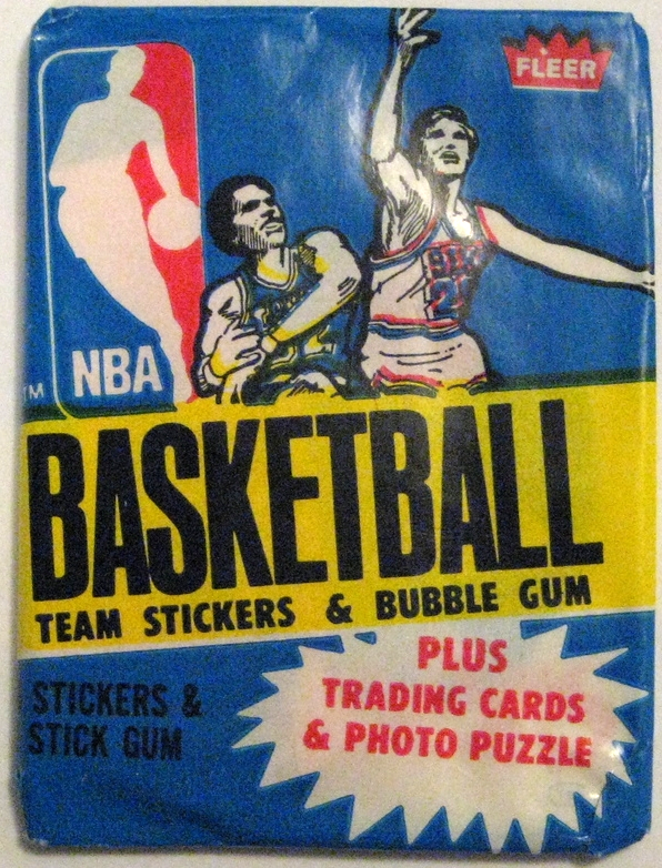 1980-81 Fleer Basketball Sticker Pack: This pack seems a little bit uninspired after Fleer's series of beautiful sticker packs in a row. But that relative low was short-lived if you look below to the 1981-82 pack.