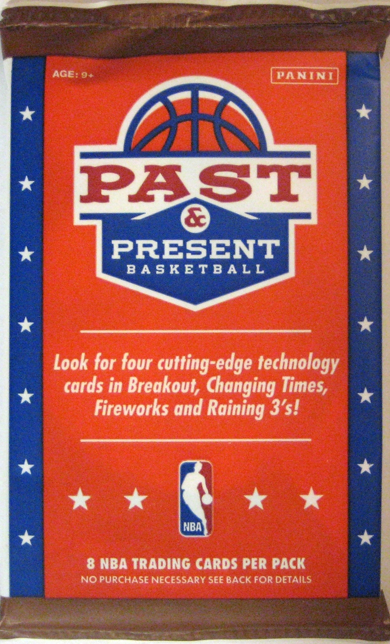 2011-12 Panini Past & Present Basketball Pack: This pack has fun bright colours with a cool western design. Panini has been a cut above when it comes to back design in the last few years.
