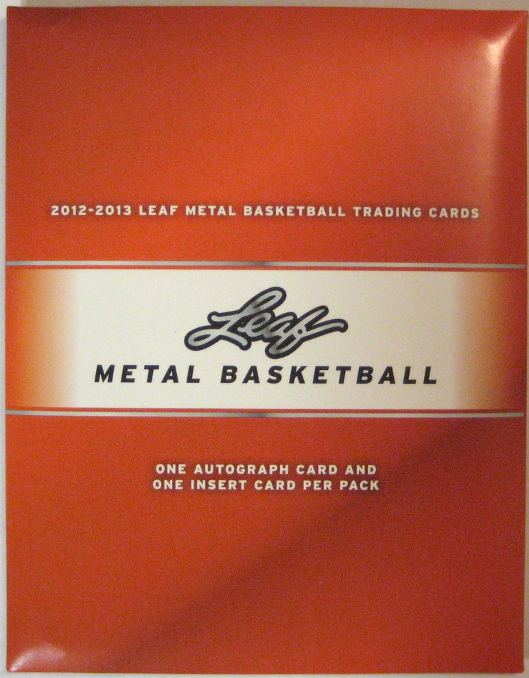 2012-13 Leaf Metal Basketball Pack: This is a very interesting pack. It's made of cardboard, and has a flap at the back to open it. It's also good a mice metallic finish while maintaining a bit of a wooden feel.