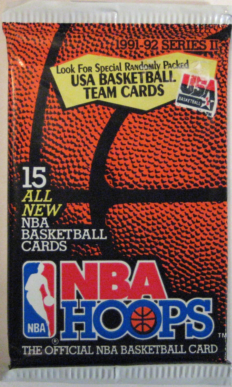 1991-92 Hoops Series 2 Basketball Pack: This is the companion pack to the series 1 pack.