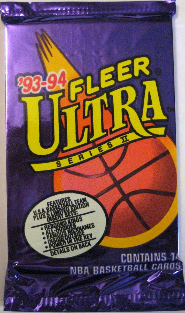 1993-93 Fleer Ultra Series 2 Basketball Pack: A great companion pack to the series 1 edition. Ultra is 2 for 2 in the 93-94 season.