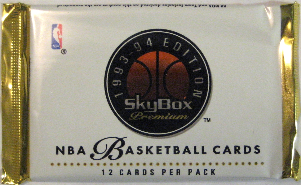1993-94 Skybox Premium Series 1 Basketball Pack: This is another great entry from Skybox. Clean, well-designed, and very elegant.