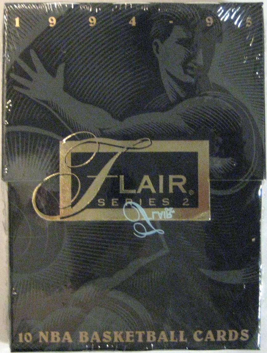 1994-95 Flair Series 2 Basketball Pack: A great companion pack from Flair. Great design.