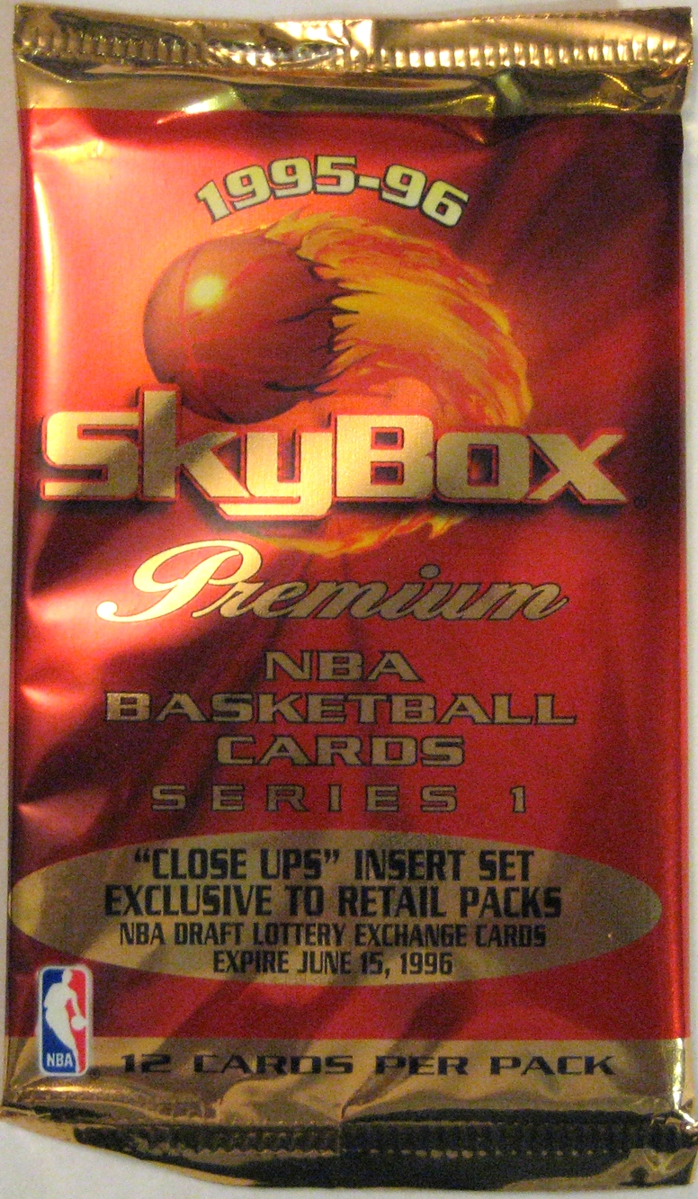 1995-96 Skybox Premium Series 1 Basketball Retail Pack: This is a great red pack from Skybox Premium. Fabulous design once again from Skybox.