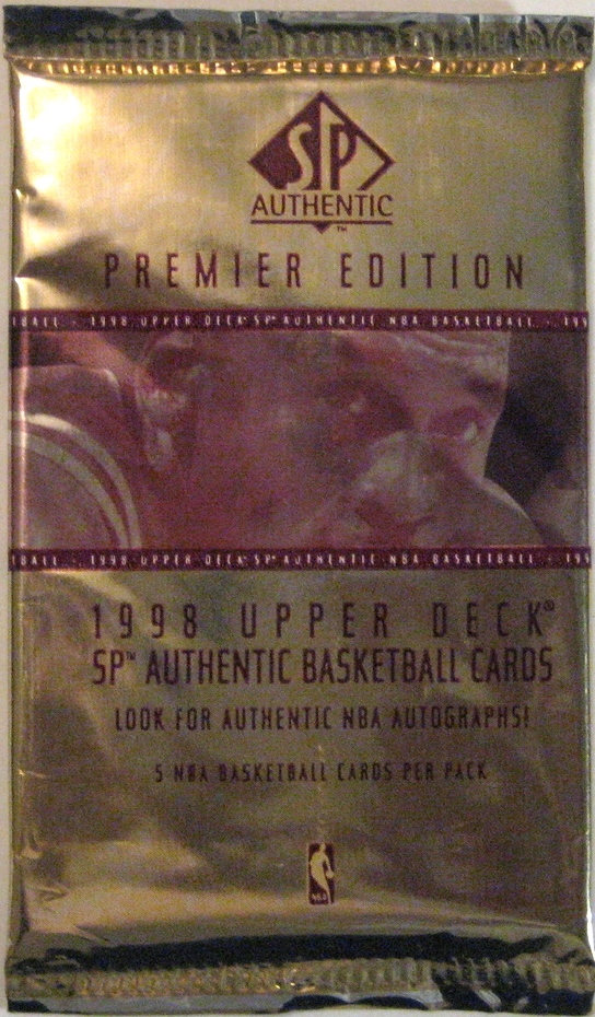 1998-99 SP Authentic Basketball Pack: This is one of the few packs with photo-realistic imagery that I really enjoy. But the photo is pretty minimalistic, and hey, who doesn't like MJ?