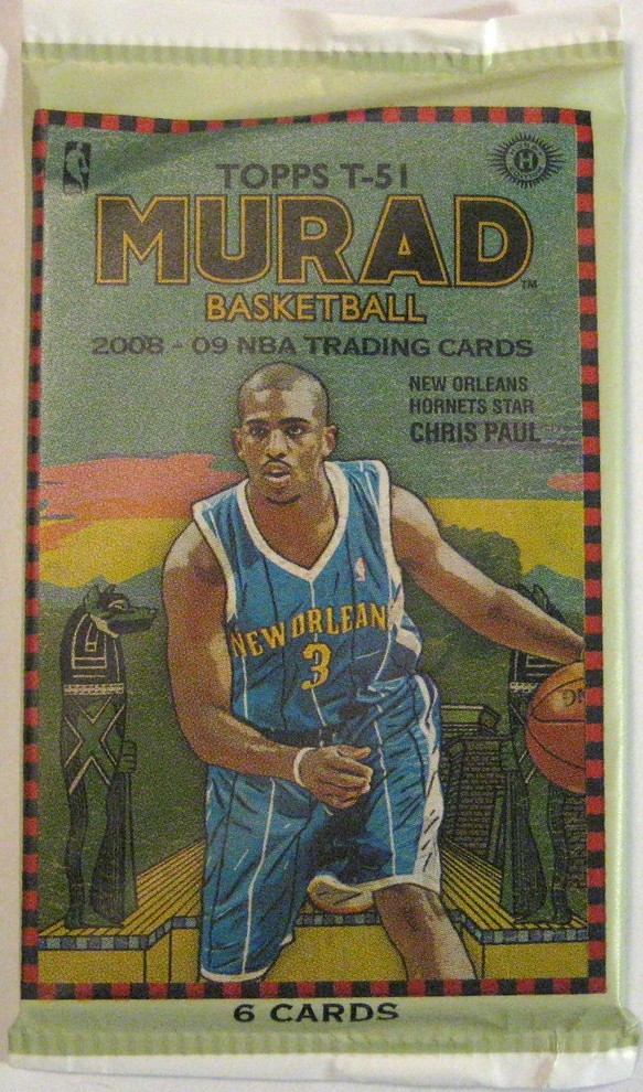 2008-09 Topps Murad T-51 Basketball Pack: This is just a great design. Real retro vibe and a nice matte finish.