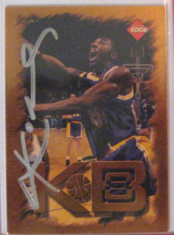 1998-99 Collector's Edge Impulse Gold #5 with auto: The card itself is not particularly impressive, but it is autographed, which obviously brings up the value substantially. I still need to get the autograph authenticated by PSA.