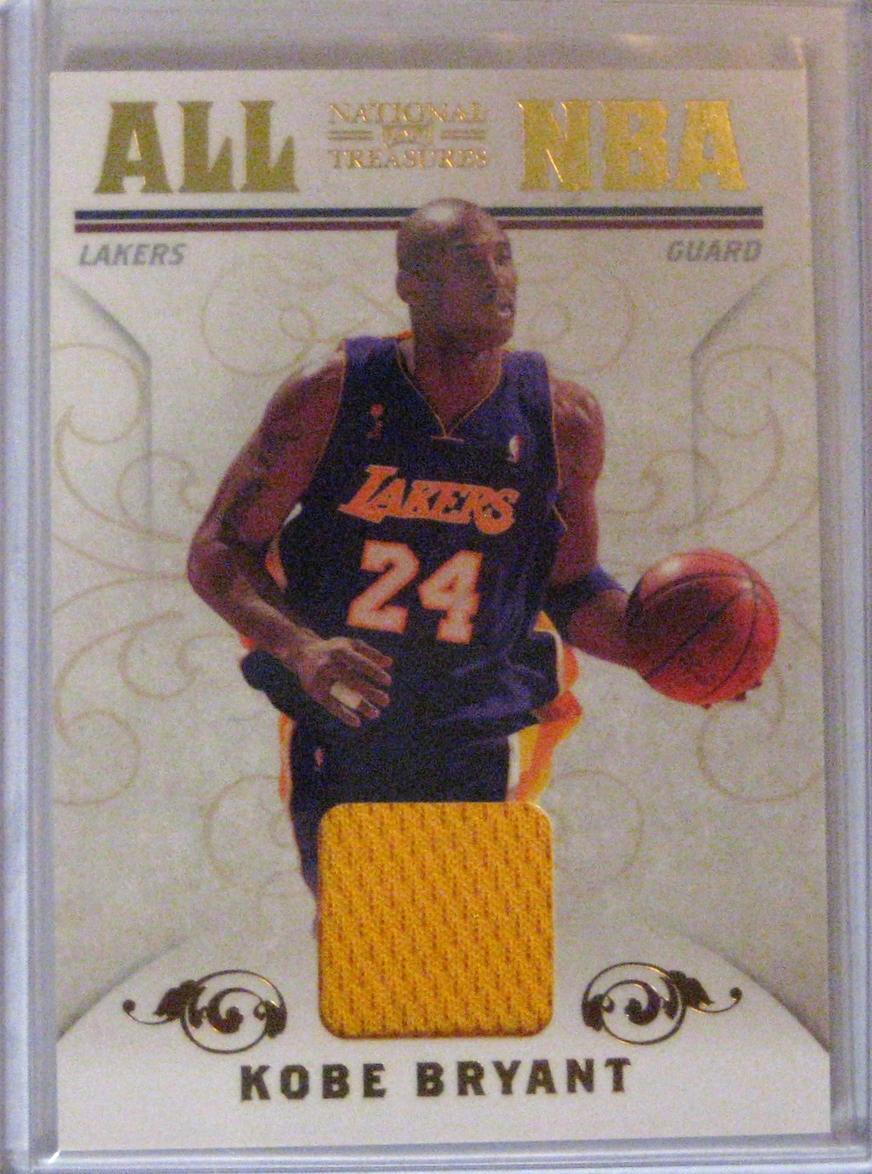 2010-11 National Treasures Game Worn Patch #/99 Kobe Bryant
