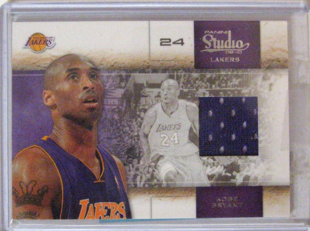 2009-10 Panini Studio Game Worn Jersey Patch Kobe Bryant #/249