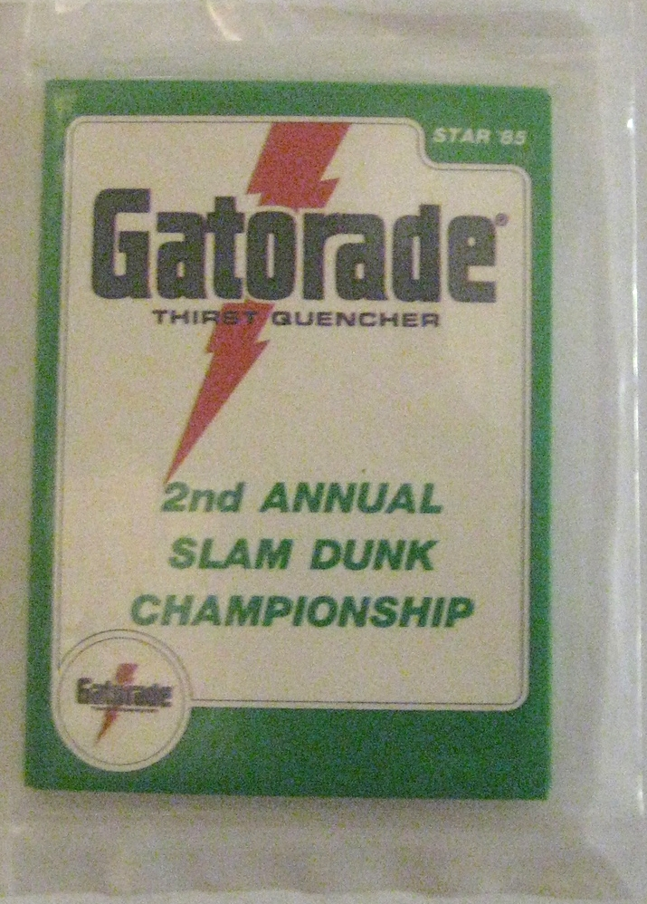 1985 Star Basketball Gatorade Slam Dunk Pack: This is a very fun little set. Topps stopped baking basketball packs in 1981, and Fleer didn't start up until 1986. In the meantime, Star basketball took the reins with the production of basketball cards. The fact that this corresponds to the starting time of Michael Jordan's career means that this set is very valuable (and alsomeans it is one of the most counterfeited sets in the basketball world). Star did not not create wax packages for its cards, but instead packaged them in see-through plastic wrappers. Nevertheless, the scarcity of this set and the clean design make it one of my more prized packs.