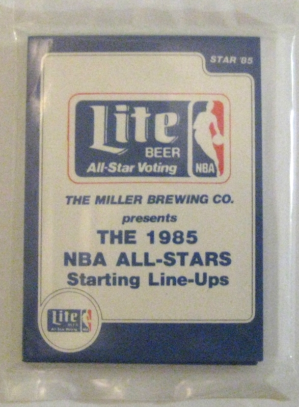 1985 Star Basketball Miller Lite All-Star Pack: Star produced a variety of packs throughout the mid-80s, some of which were sponsored by advertisers. This All-Star set is sponsored by Miller Lite. Other sponsors include Gatorade and Schick.