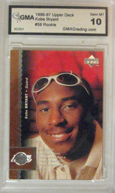 1996-97 Upper Deck #58 Rookie Card, graded GEM-MT 10