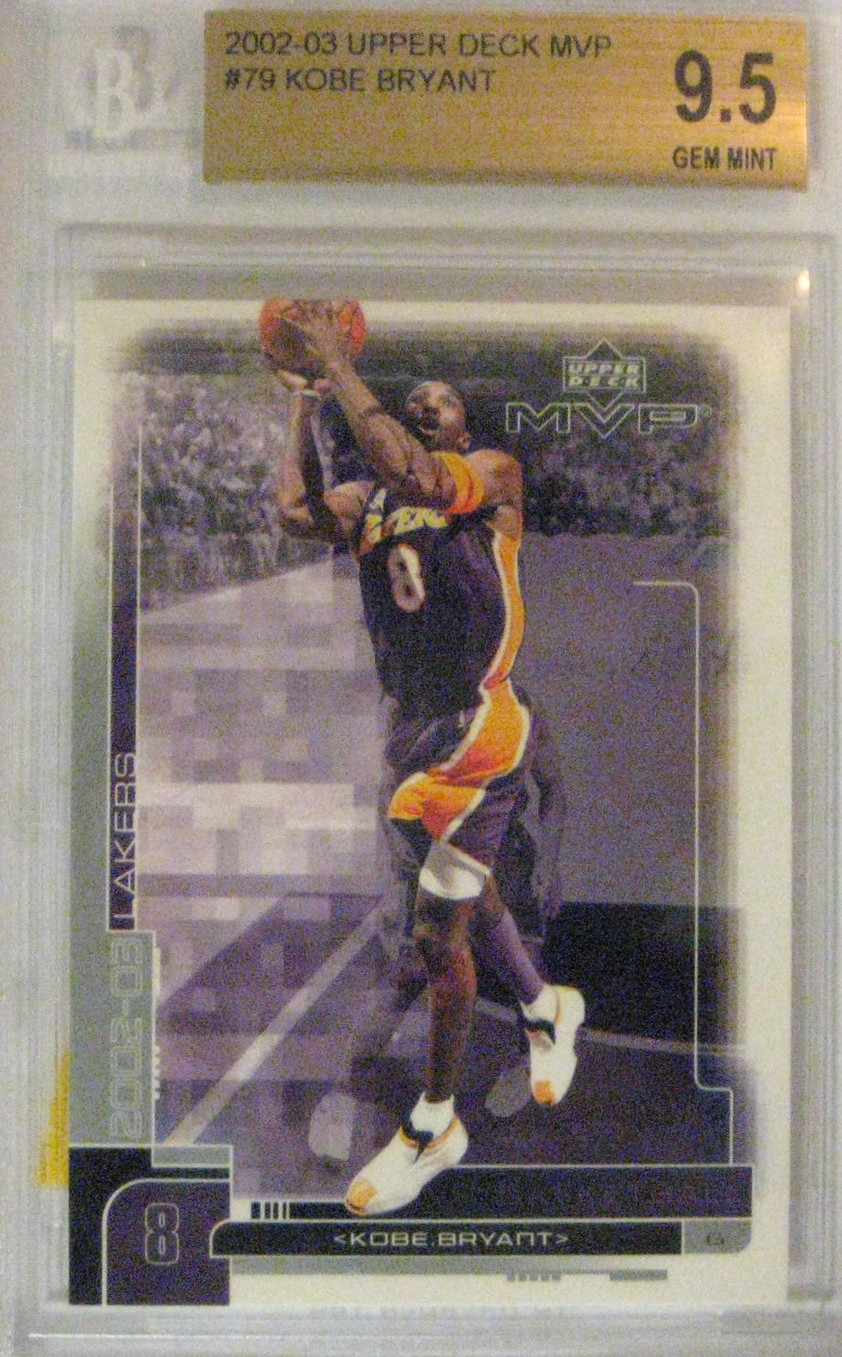 2002-03 Upper Deck MVP #79: I got this card as part of a larger lot. I'm not sure who would get this card graded as it holds very little value, but still pretty nice.