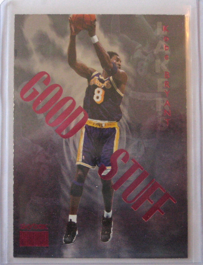 """1999-00 Skybox Premium Good Stuff: This has a lot of wear along the left hand side of the card. This type of damage is known as """"chipping"""". It makes this card virtually value-less."""