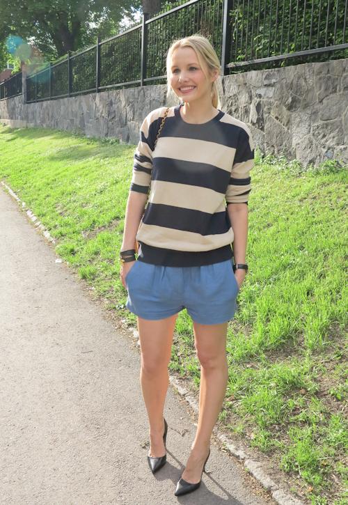 Bag Marc Jacobs/ Shorts Isabel Marant/ Sweater Stella McCartney
