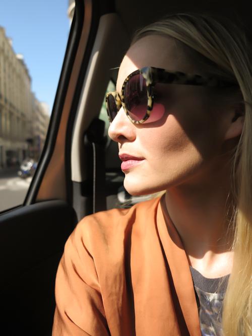 Taxi window sightseeing. //Shades: Triwa//Jacket: Zara//