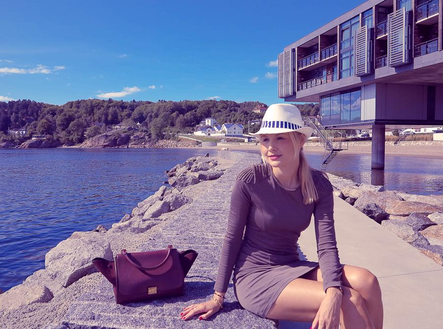 Bag - Celine / Dress - H&M / Hat - holiday find