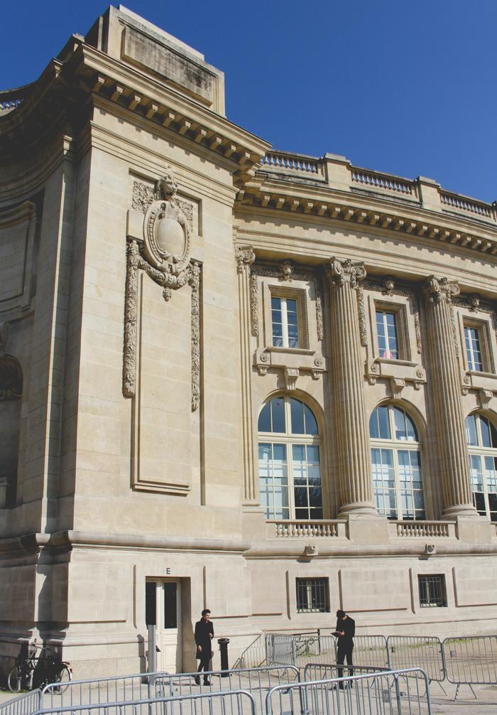 The entrance to the Saint Laurent showroom, -pretty impressive!