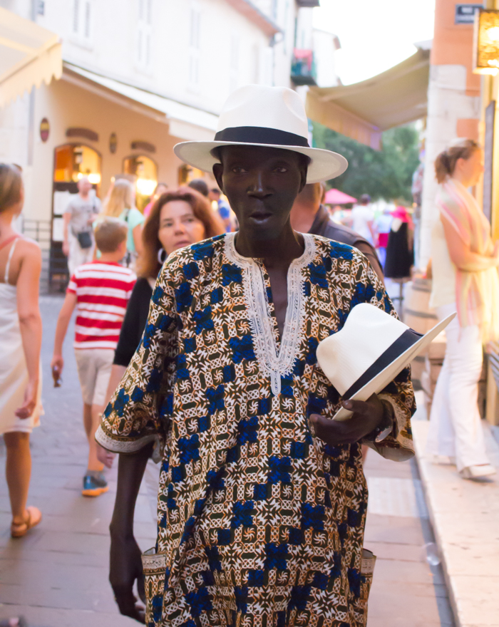 I also have a great love for Panama hats, -and bought my last one from this cool guy.