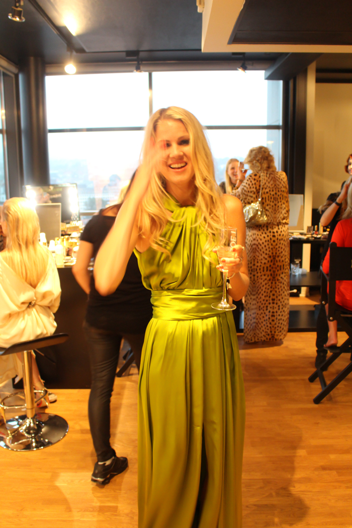 The colour expert  Dagny in the most amazing green hue from Lanvin