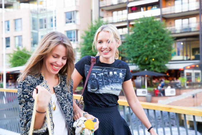Anja Stang and me on the way to the Nina Jarebrink show
