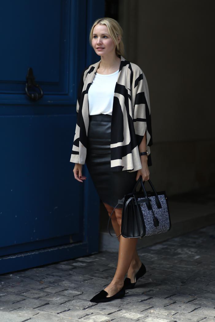 //Shoes Jimmy Choo/ Skirt By Malene Birger/ Bag Saint Laurent/ Cape Diane von Furstenberg//