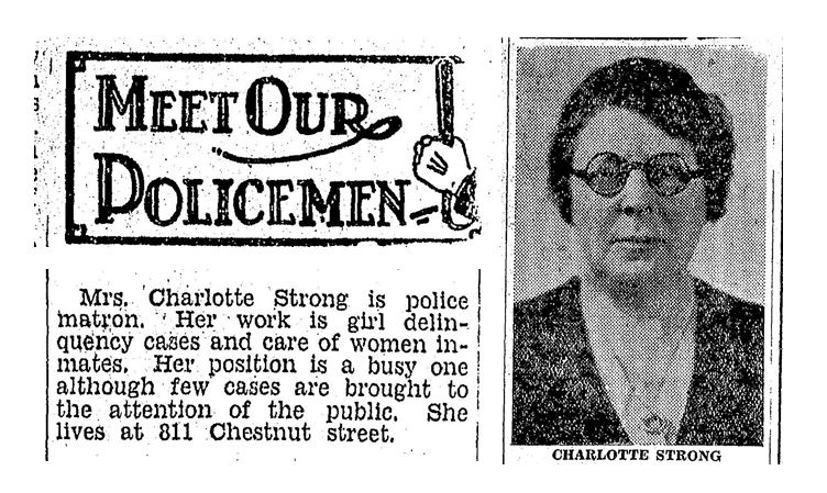 Mrs. Charlotte Strong looks as if she could handle herself, but what's with publishing her address….?