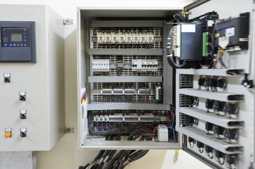 Open Electrical Control Panel
