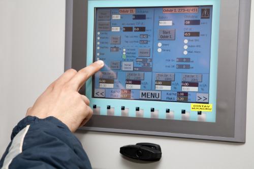 HMI Screen on Control Panel