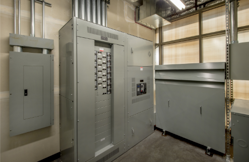 Electrical Control Panels in Control Room