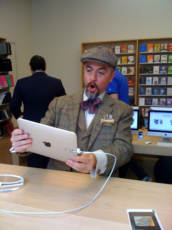 Dr. Professor Samuel Tweed meets the iPad.