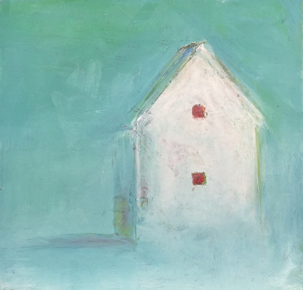 House Study- Aqua with Red Windows