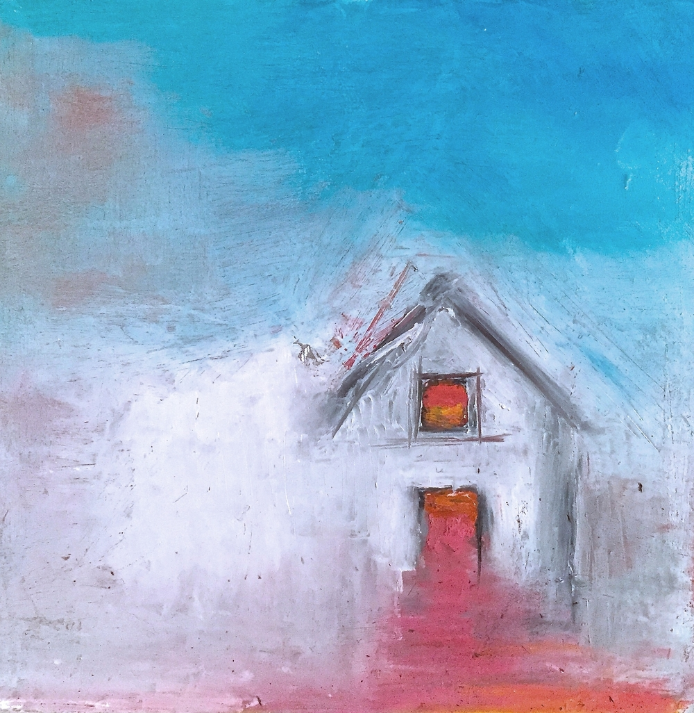 House Study-Orange,Pink Door and Window