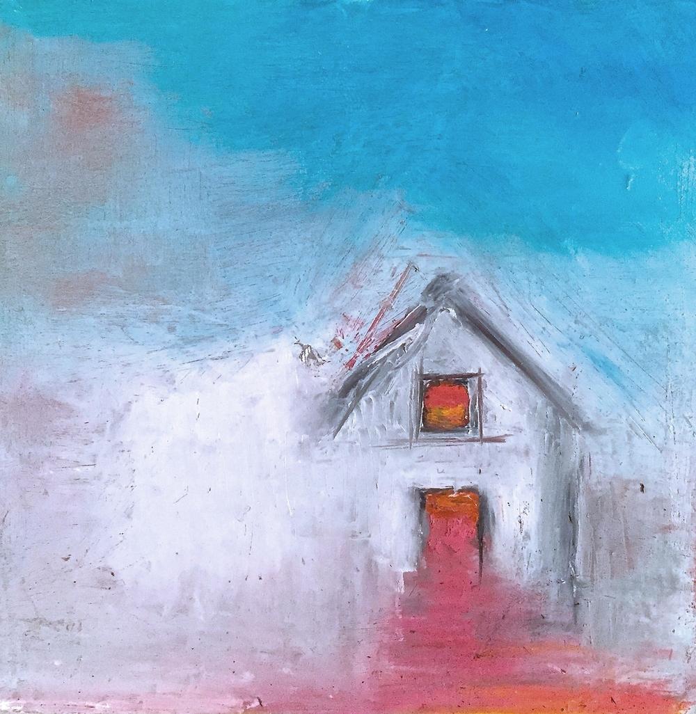 House Study-Orange,Pink Door and Window