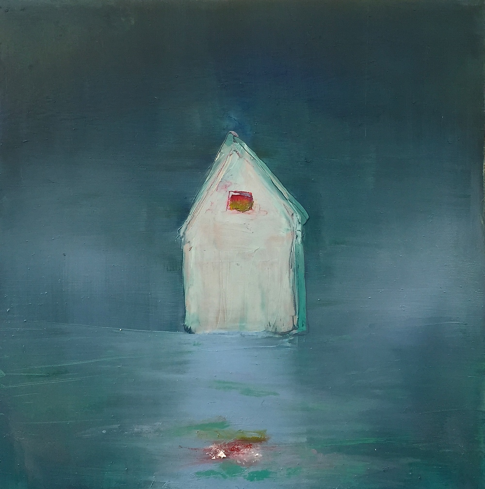 House Study- Aqua with Red Window