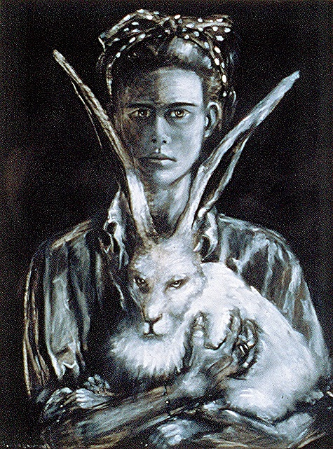Self Portrait with Hare