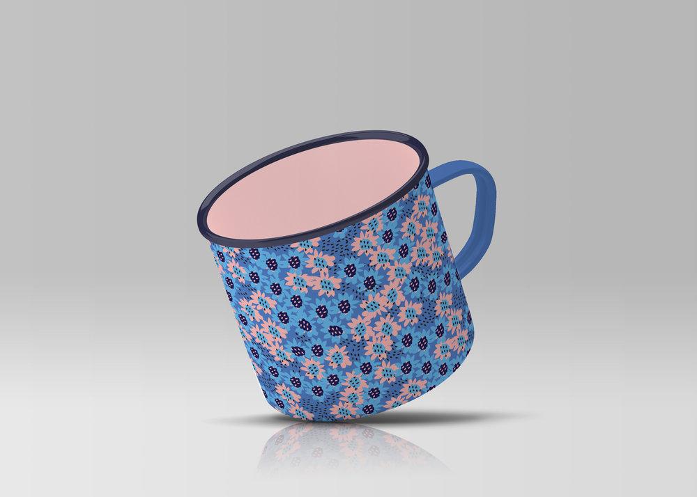 sketchy flowers complimentary enamel mug.jpg