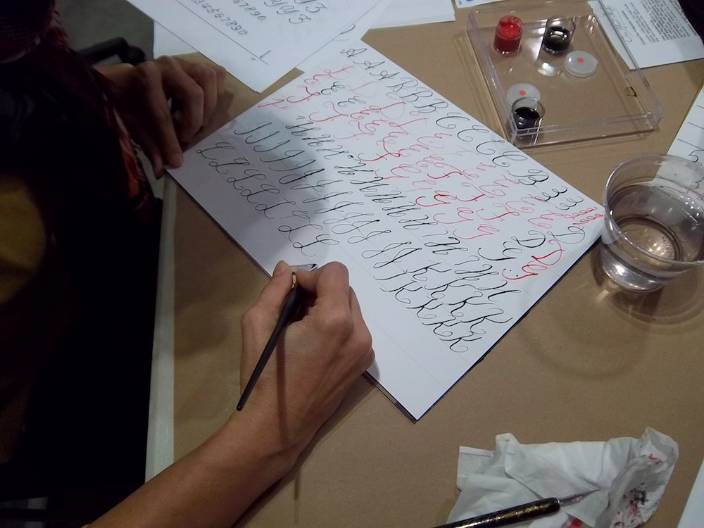 Calligraphy Class Student 2 Seattle Venue 2013.jpg