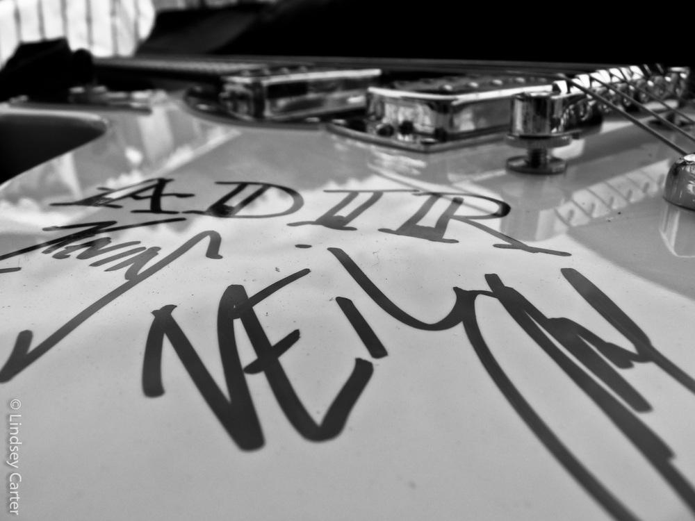 Warped Tour '09 Autographed Guitar