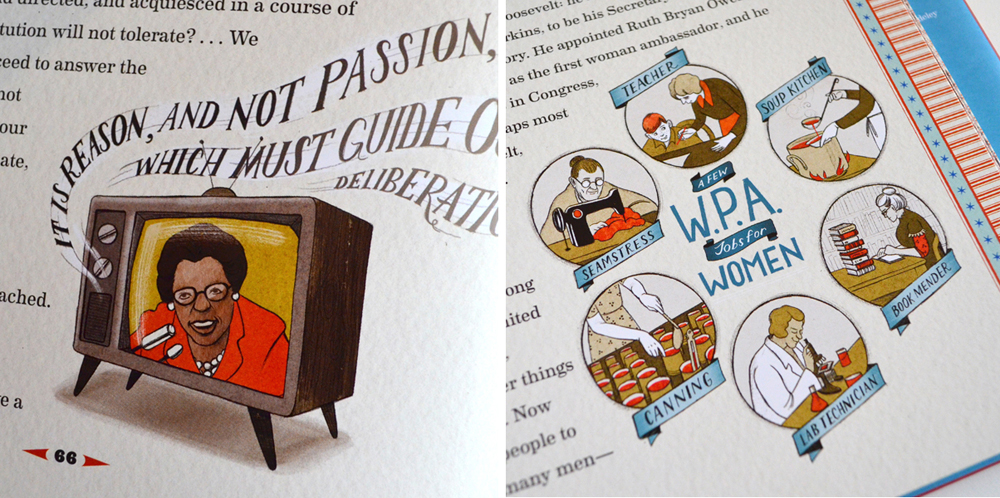 Many of the spots integrated type and illustration which is great because it's just about my most favorite thing to do!