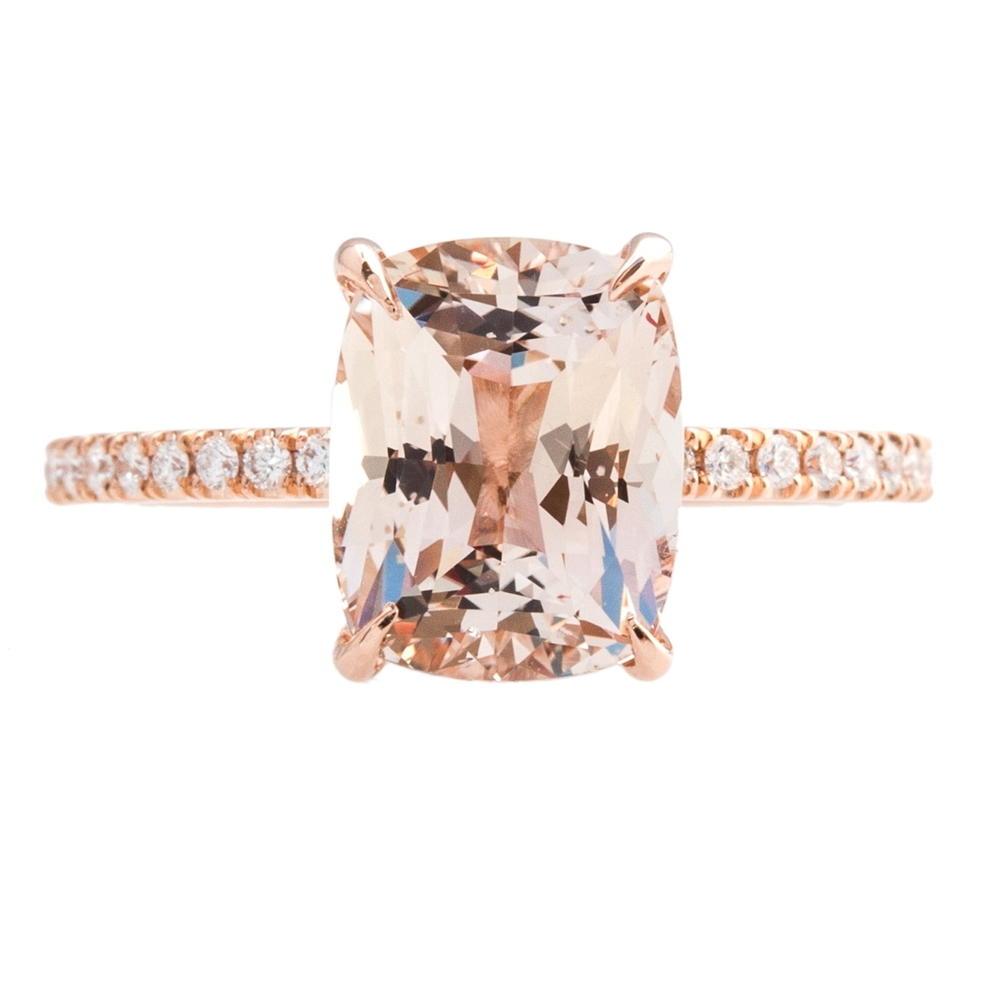 Rustic Motors 3d Custom Made Jewelry Home: Custom Peach Sapphire Ring